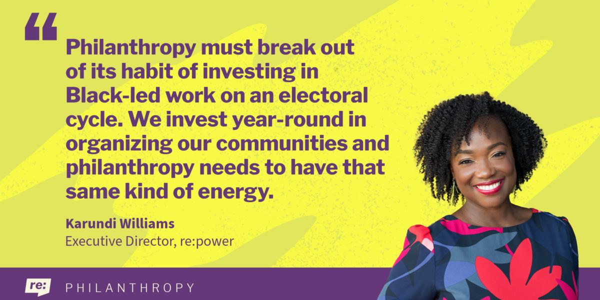 Karundi Williams quote on philanthropy